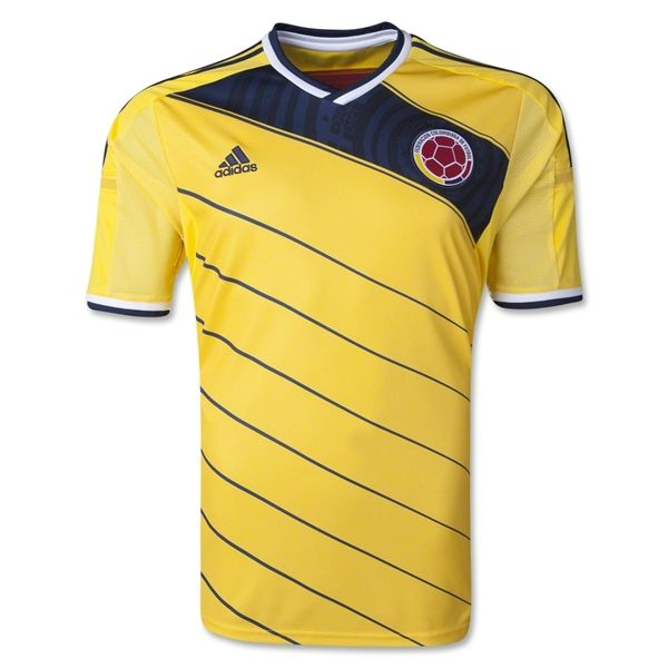 Colombia 2014 Home Soccer Jersey - WorldSoccerShop.com Dinamic design. #soccerjerseys #colombia