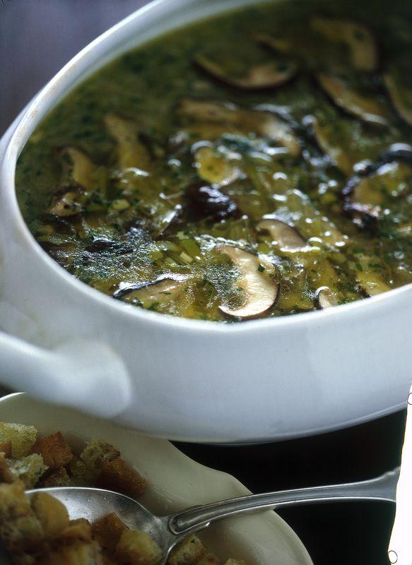 Zuppa di porcini e porri