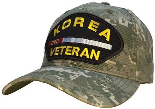 Korean War Veteran Hat Digital Camo Ball Cap