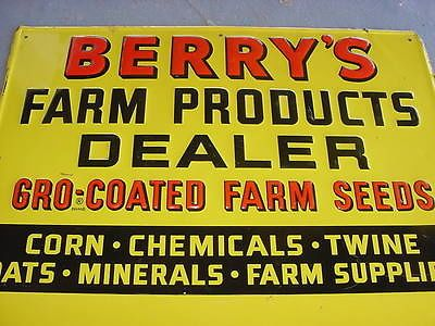 nice 1950s vintage berry s farm corn feed seed old country store