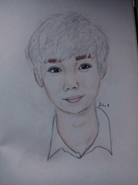 Exo Luhan drawing :))))) so handsome...:D