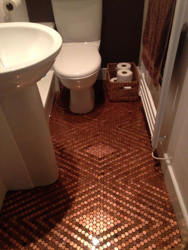 polyurethane floor project pennies - Google Search