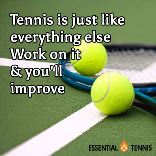 Tennis Quote: Tennis is just like everything else. Work on it and you'll improve