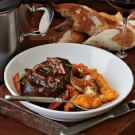 Try the Spiced Wine-Braised Veal Shanks and Sweet Potato Puree