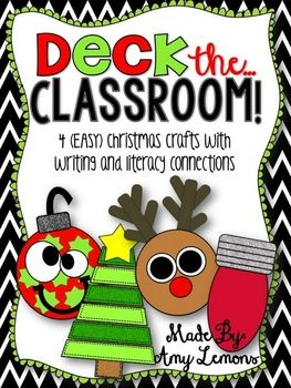 Looking to add some Christmas cheer to your classroom? I love getting into the spirit of the season with Christmas decorations, but I like easy-to-make crafts! There are four little crafts included in this unit that require very little prep! Just print out onto construction paper and allow your students to assemble!