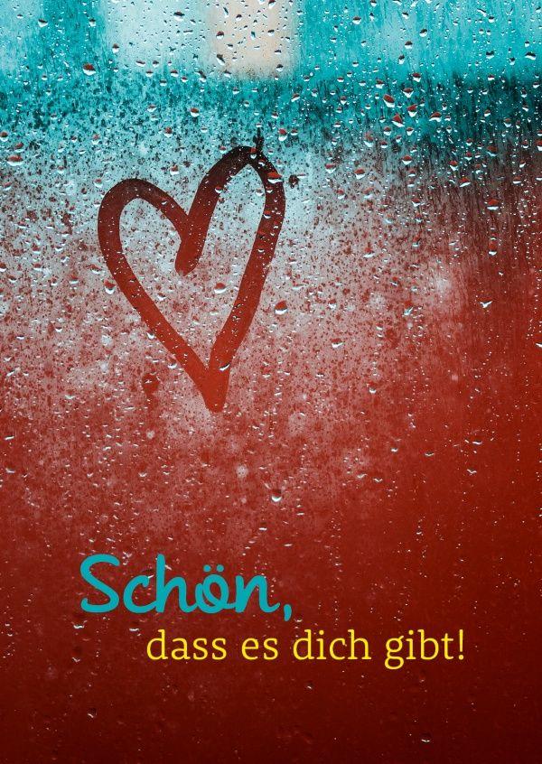 Schön, daß es dich gibt | Liebe | Echte Postkarten online versenden | Gutsch…