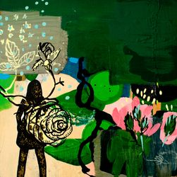 Painting and collage 2008-07-06 - Randi Antonsen