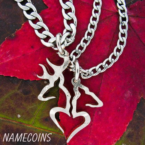 country couples necklace from namecoins on easycom