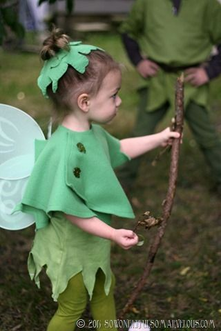 DIY Peter Pan   Tinkerbelle Costume 052
