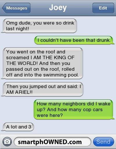 Omg dude!! U were so drunk last night! - - Autocorrect Fails and Funny Text Messages - SmartphOWNED