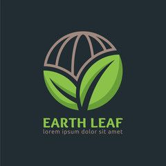 Earth Leaf logo design template, easy to customize. Earth Leaf