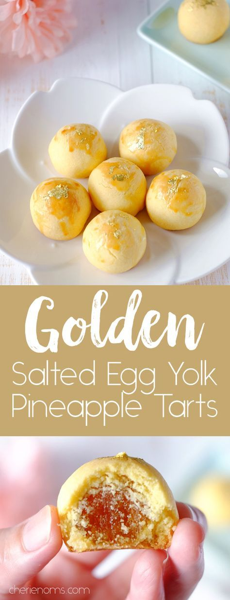 Golden Salted Egg Yolk Pineapple Tarts for Chinese New Year