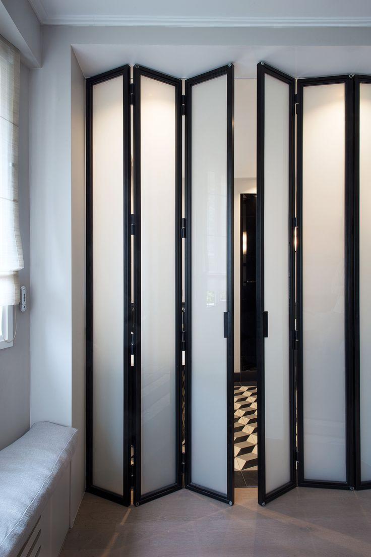 Les 25 meilleures id es de la cat gorie portes pliantes sur pinterest portes de pliage bi des - Cloison mobile appartement ...