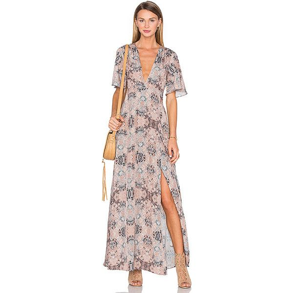 House of Harlow 1960 x REVOLVE Blaire Wrap Maxi ($240) ❤ liked on Polyvore featuring dresses, wrap front dress, wrap style dress, wrap front maxi dress, house of harlow 1960 dress and wrap dress