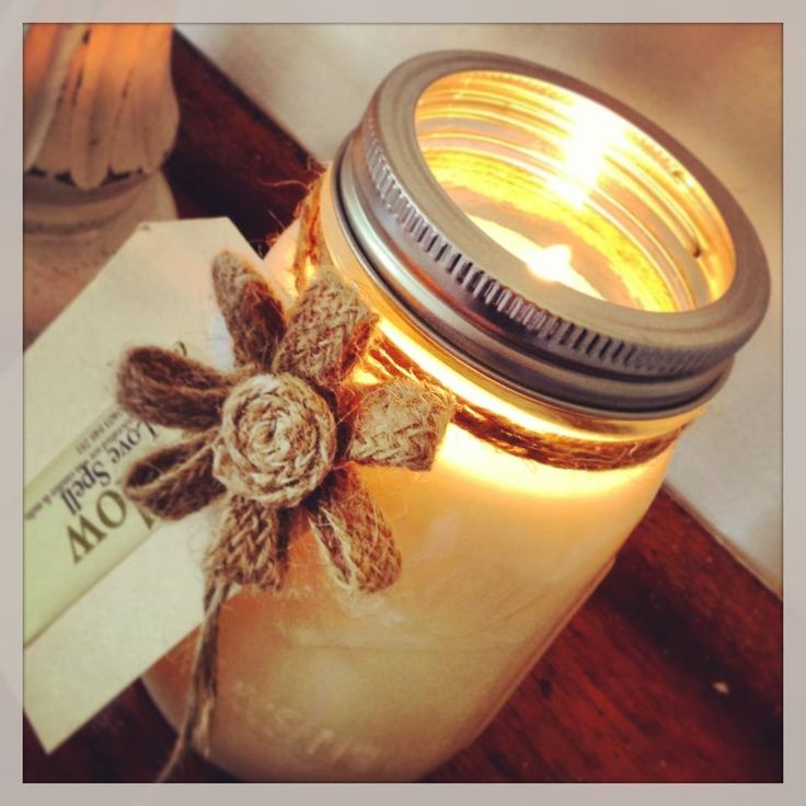Handcrafted Ball Mason jar soy candle by Glow - Candles & More. www.facebook.com/GlowSoy