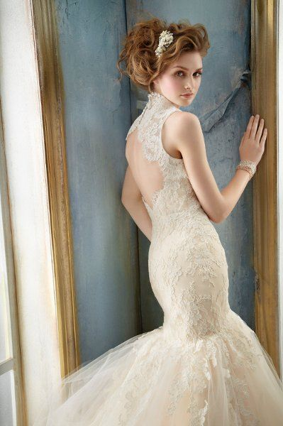 Love the back of this Jim Hjelm gown.