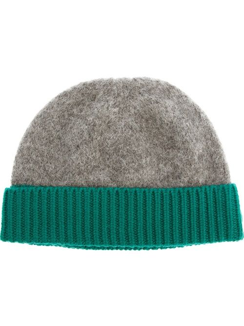 Men - Acne Contrast Trim Beanie - SMETS #ACNE