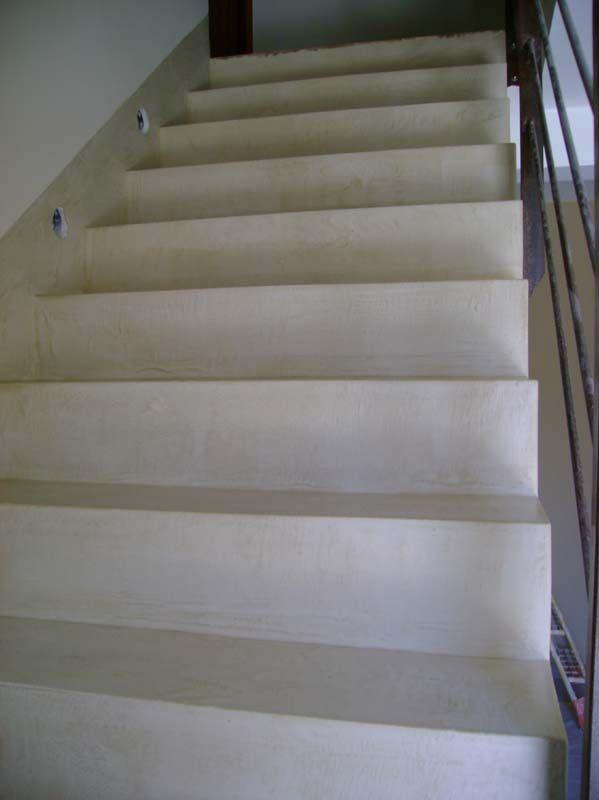 Les 25 meilleures id es de la cat gorie escalier beton cir sur pinterest e - Faire un escalier en beton cire ...