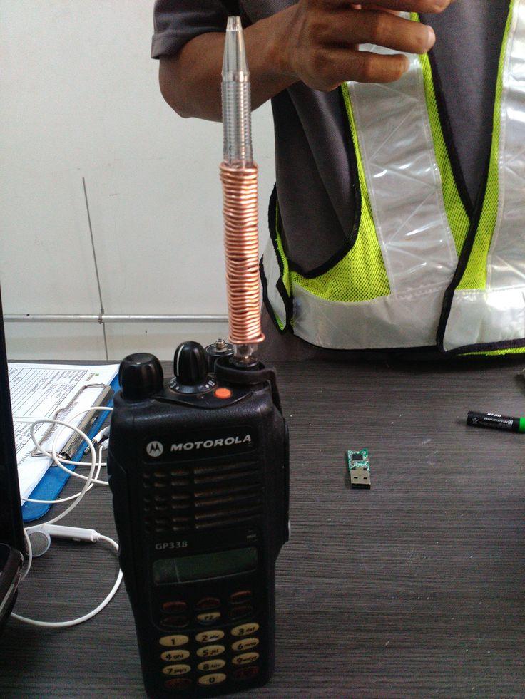 Broken antenna? Ballpoint pen she'll and wire will fix.. :D