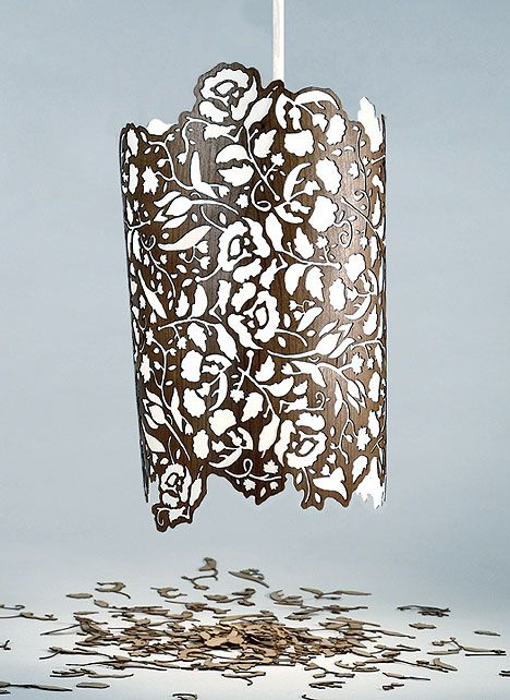 So many ideas of things i could laser cut into a lamp shade