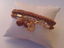 Desert Flower by Carly bransoletka skóra pleciona bracelet jewellery