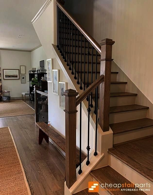 Multifunctional Staircaseideas Baluster16135 Transitional Staircase Iron16135 Handsfree Cleaning Baluste In 2020 Diy Staircase Stairs Design Staircase Remodel