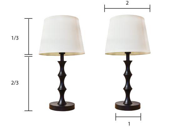 Cómo elegir la sombra de la lámpara Tamaño Derecha - Apartamento Terapia Tutoriales | Apartment Therapy