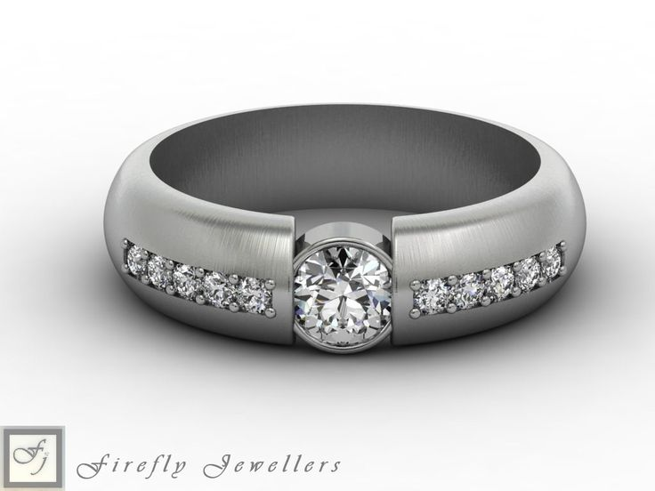 Diamond and white gold engagement ring. (source: www.fireflyjewel.co.za)