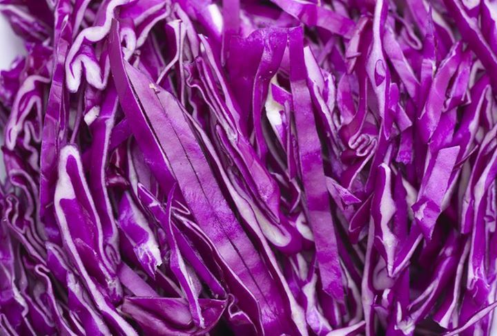 """Red Cabbage, who knew! """"Red cabbage is one of the most healthful and least expensive vegetables available today. It is rich in vitamins C, K, & B-complex and minerals such as iodine, calcium, magnesium, potassium, and iron. It is also high in anthocyanin polyphenols which are powerful antioxidants that contain potent anti-inflammatory, anti-viral, and anti-cancer properties."""""""