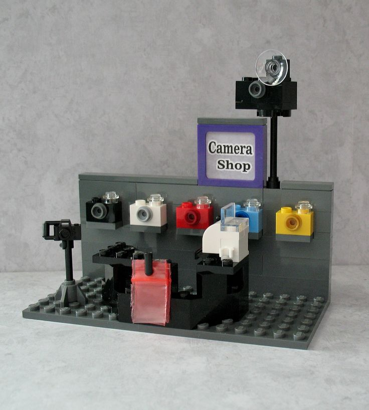 Custom Lego Camera Shop - sized for minifigs and friends. For sale only on eBay. click the photo to get to my listings.