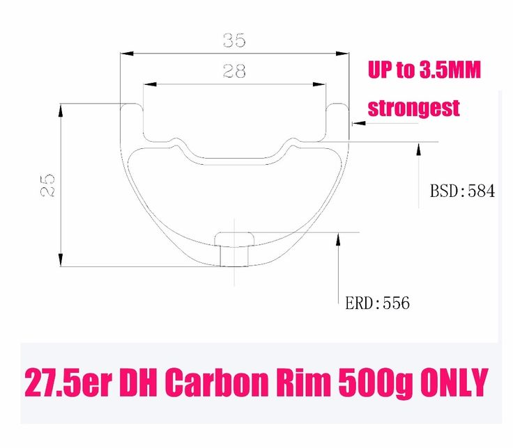 (176.00$)  Know more  - carbon mtb 650B RIMs Stiffer DH bike part 27.5er 35x25mm wide Down hill jumping racing ride excellent cycling parts store online