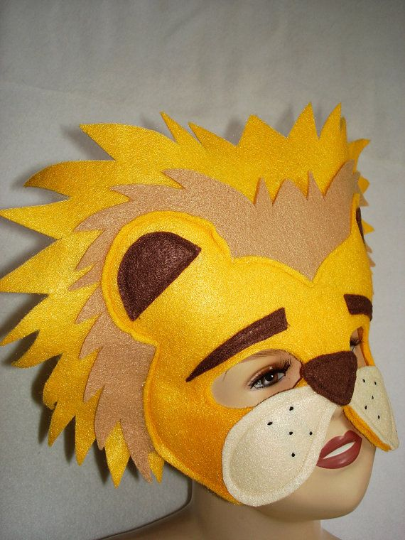 Children's LION Felt Animal Mask by magicalattic on Etsy