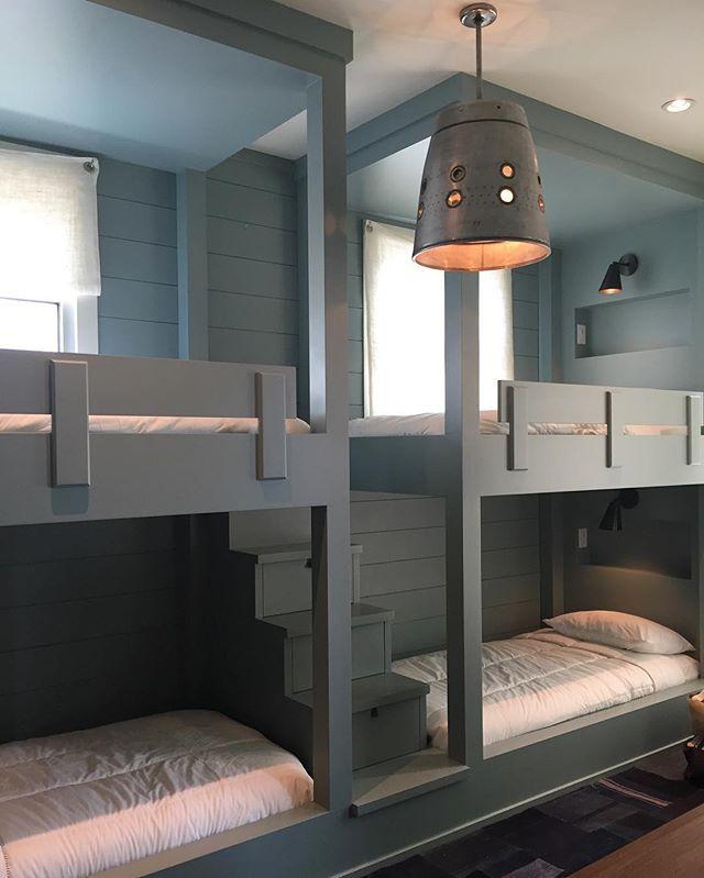 double bunk beds bunk rooms cottage bedrooms kids bedroom kids rooms