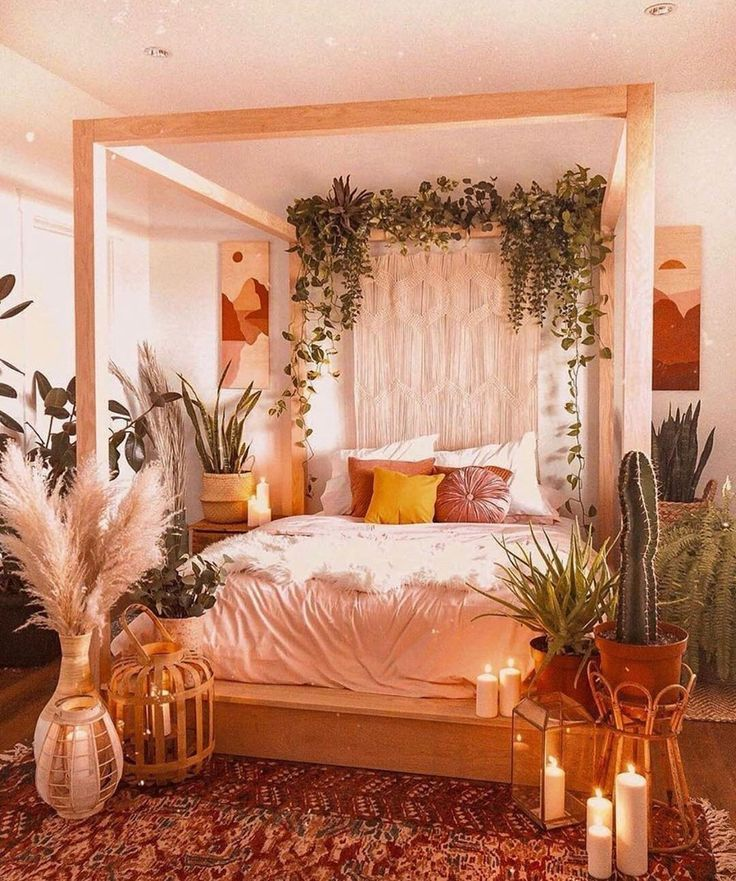 Pin By Fallax On Bohemian Home Small Bedroom Interior Bedroom Interior Canopy Bedroom