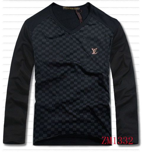 Louis Vuitton Men Long Sleeve Shirt On Sale-17