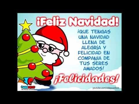 Tarjetas navideñas animadas, santa claus feliz navidad