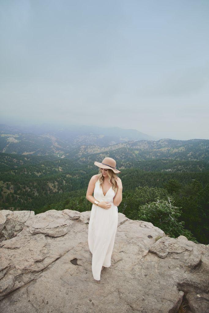 Beautiful mountains #mountain #hat #whitedress #views #colorado
