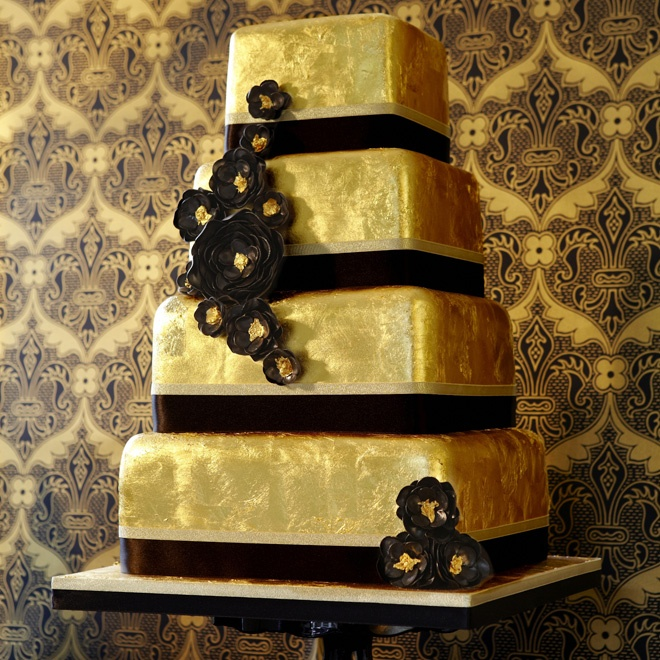 edible gold leaf wedding cake rock and cake featuring supersized tiers encased in 13906