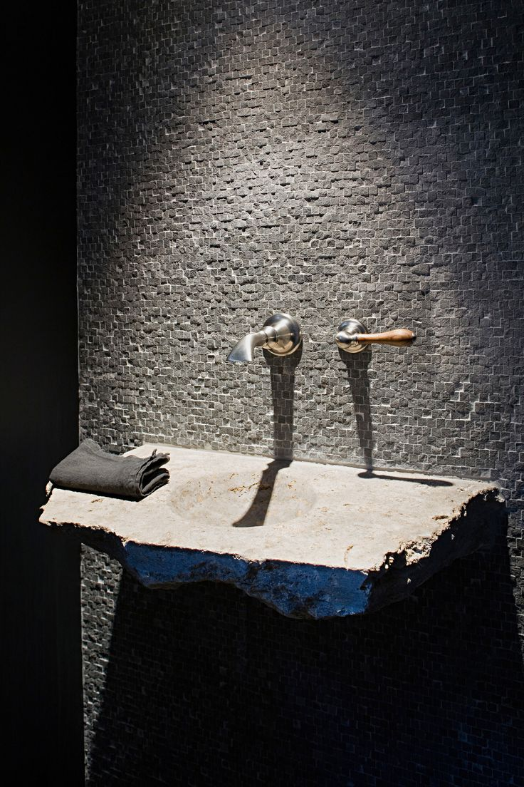 Raw contemporary sink, made in Belgium