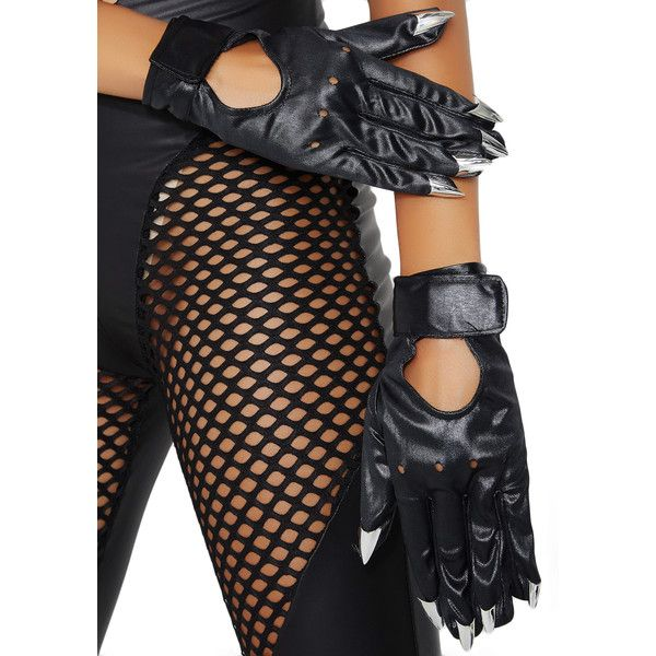 Claw Motorcycle Gloves ($12) ❤ liked on Polyvore featuring accessories, gloves, motorcycle gloves, silver gloves, leg avenue, claw gloves and knuckle gloves