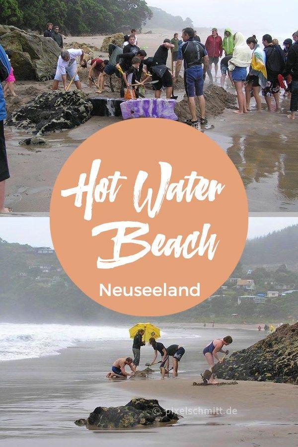 Hot Water Beach in Neuseeland: Heißes Wasser direkt aus dem Sand