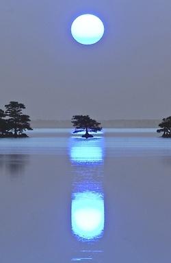 attrip: 2012年8月31日の満月はブルームーン(ひと月に二回満月になる二回目)とのことです。ブルームーンを見ると願いがかない幸福になれるという言い伝えがある | A!@attrip