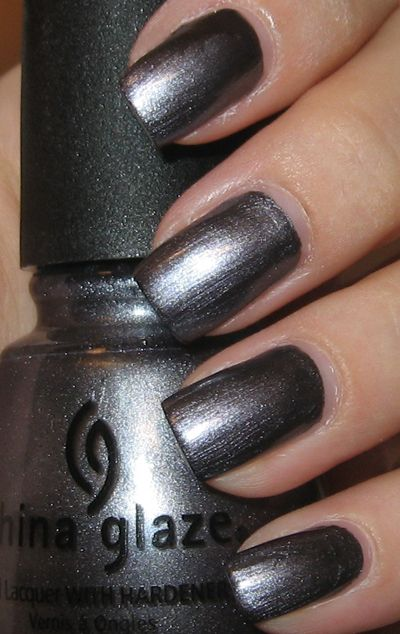 China Glaze Awaken Great Gun Metal Gray Metallic Nail Polish