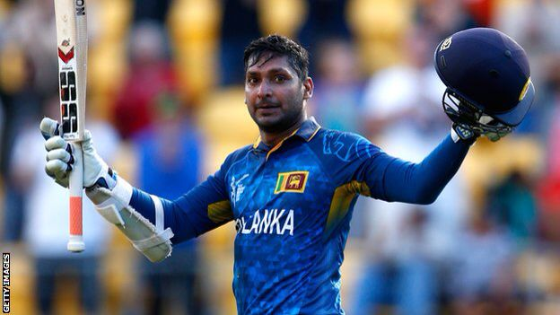 Kumar Sangakkara reached his hundred in 70 balls - the fastest of his 23 ODI centuries, helping to beat England.