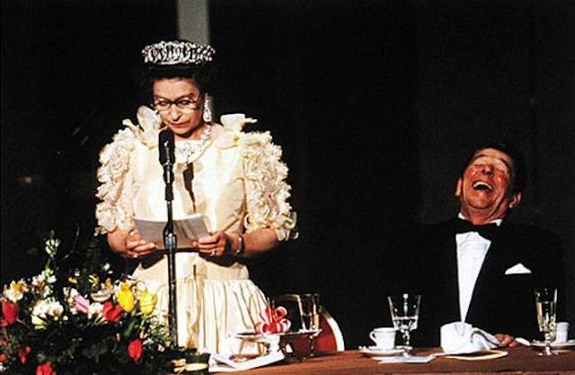 President Reagan laughing at humorous remarks made by Queen Elizabeth II: Queen Elizabeth, Presidents Reagan, U.S. Presidents, The Queen, British Royals, Elizabeth Ii, San Francisco, Presidents Ronald, Ronald Reagan
