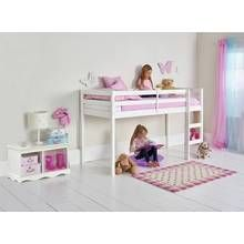 Buy HOME Kaycie Wooden Mid Sleeper Single Bed Frame - White at Argos.co.uk, visit Argos.co.uk to shop online for Children's beds, Children's furniture, Home and garden