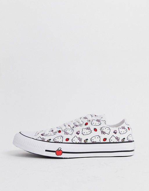 d465e8961e8270 Converse x Hello Kitty Chuck Taylor Ox white all over print sneakers ...
