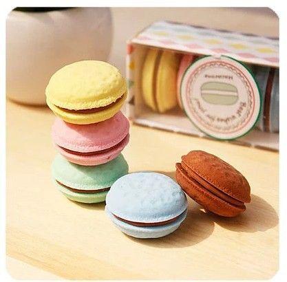 5 colori kawaii cancelleria Della Corea delizioso dessert torta macaron gustless materiale scolastico eraser for kids trasporto libero 00612
