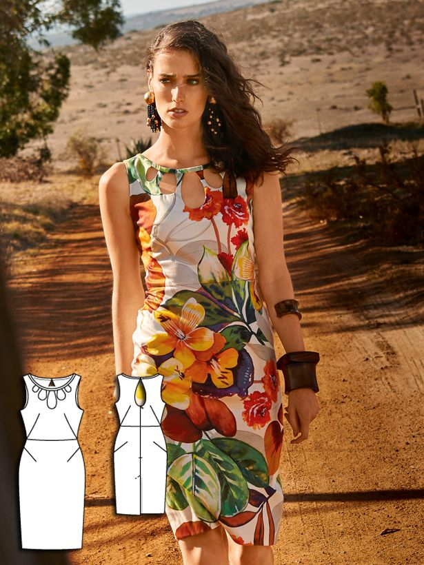 womens dress sewing pattern 112-062016-B
