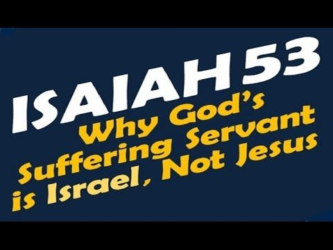 ISAIAH 53 SUFFERING SERVANT (Reply2 one for israel messianic jews for jesus jewish voice askdrbrown) - YouTube